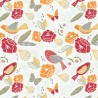 100% Cotton Patchwork Fabric Fly Collection Butterflies Birds & Beautiful Floral