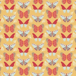 104 Butterflies on Yellow