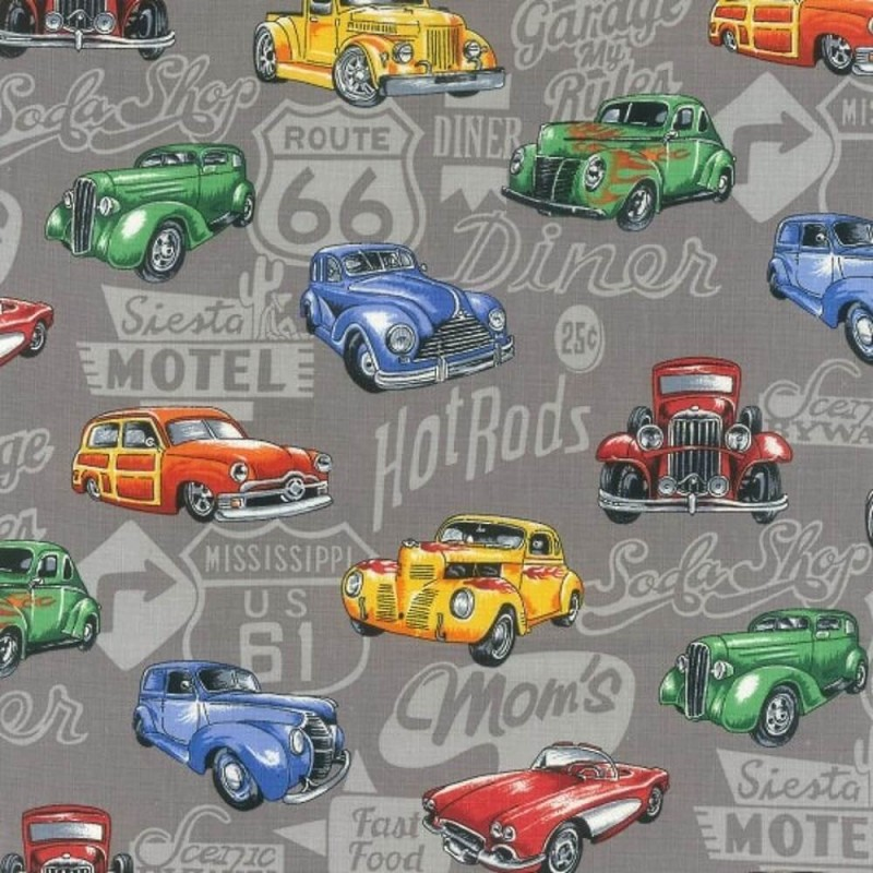 89540 101 Hot Rods on Grey