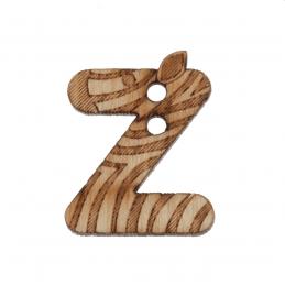 1 x Wooden Alphabet Button Z