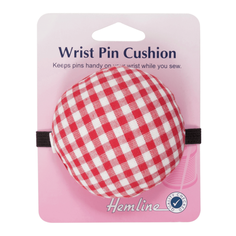 Hemline Sewing Pin Cushion for Wrist