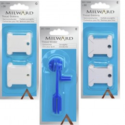 Milward Embroidery Thread Bobbins Paper, Plastic & Winder