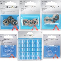 Milward Metal, Plastic Bobbins Sewing Machine Bobbin Box