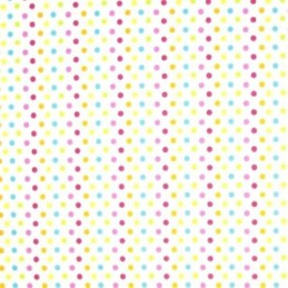 5mm Pink/Turq Polka Dots Spots Spotty Polycotton Fabric