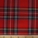 Tartan Plaid Check Polyviscose Fabric 150cm Wide, 190 gsm All Ranges 19 Royal Stewart Medium