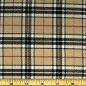 Tartan Plaid Check Polyviscose Fabric 150cm Wide, 190 gsm All Ranges 25 Caramel Thompson