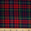 Tartan Plaid Check Polyviscose Fabric 150cm Wide, 190 gsm All Ranges 27 White Yellow Green & Red On Navy