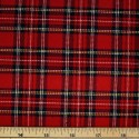 Tartan Plaid Check Polyviscose Fabric 150cm Wide, 190 gsm All Ranges 35 Royal Stewart Mini