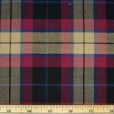 Tartan Plaid Check Polyviscose Fabric 150cm Wide, 190 gsm All Ranges 64 Wine