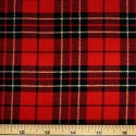 Tartan Plaid Check Polyviscose Fabric 150cm Wide, 190 gsm All Ranges 70 Red & Gold Lurex