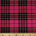 Tartan Plaid Check Polyviscose Fabric 150cm Wide, 190 gsm All Ranges 73 Pink & Gold Lurex