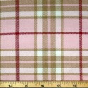 Tartan Plaid Check Polyviscose Fabric 150cm Wide, 190 gsm All Ranges 78 Pink LInes Stripes