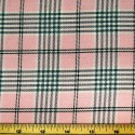 Tartan Plaid Check Polyviscose Fabric 150cm Wide, 190 gsm All Ranges 84 White On Pink