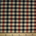 Tartan Plaid Check Polyviscose Fabric 150cm Wide, 190 gsm All Ranges 87 Brown & Black On Cream