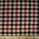 Tartan Plaid Check Polyviscose Fabric 150cm Wide, 190 gsm All Ranges 88 Cerise & Black On Cream