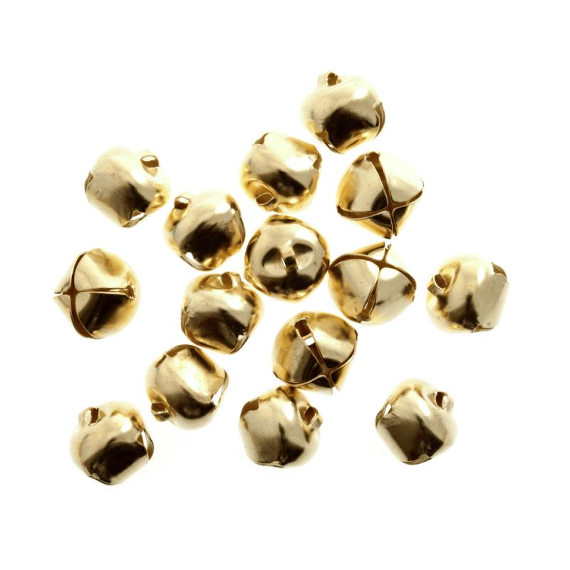 10 x Jingle Bells 6mm Gold
