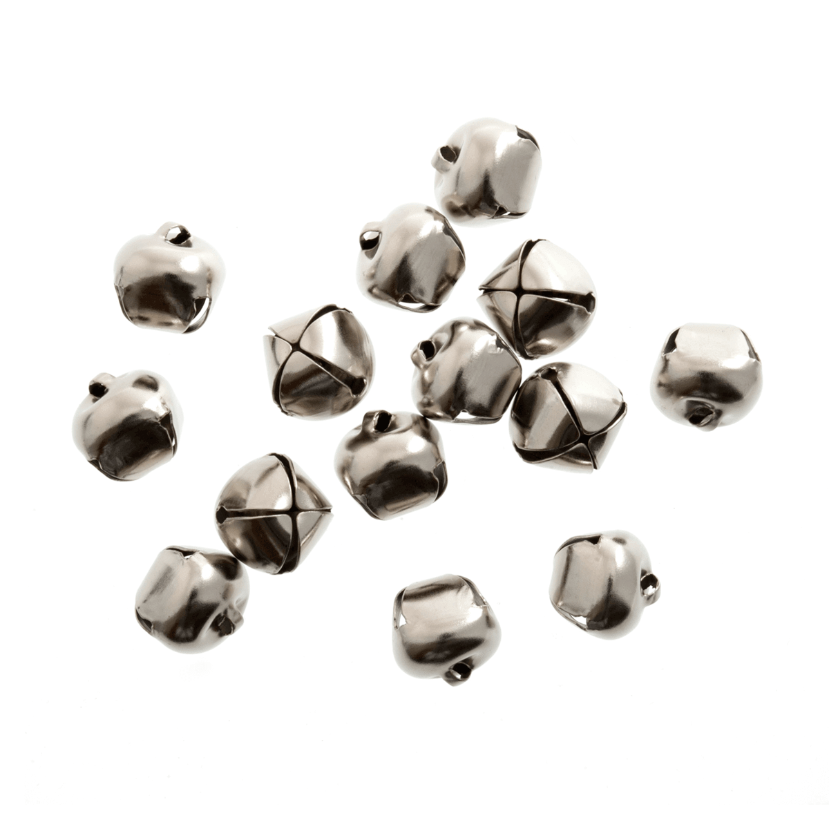 10 x Jingle Bells 20mm Silver
