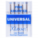4. A6100.991 Sewing Machine Needles: Universal: Fine: Assorted: 5 Pieces