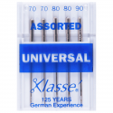 6. A6100.MIX Sewing Machine Needles: Universal: Assorted: 5 Pieces
