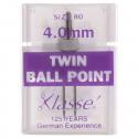 28. A6155.4.0 Sewing Machine Needles: Twin Ballpoint: 80/4mm: 1 Piece