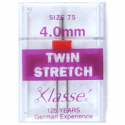 30. A6156.4.0 Sewing Machine Needles: Twin Stretch: 75/4mm: 1 Piece