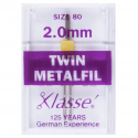 31. A6159.2.0 Sewing Machine Needles: Twin Embroidery: 80/2mm: 1 Piece