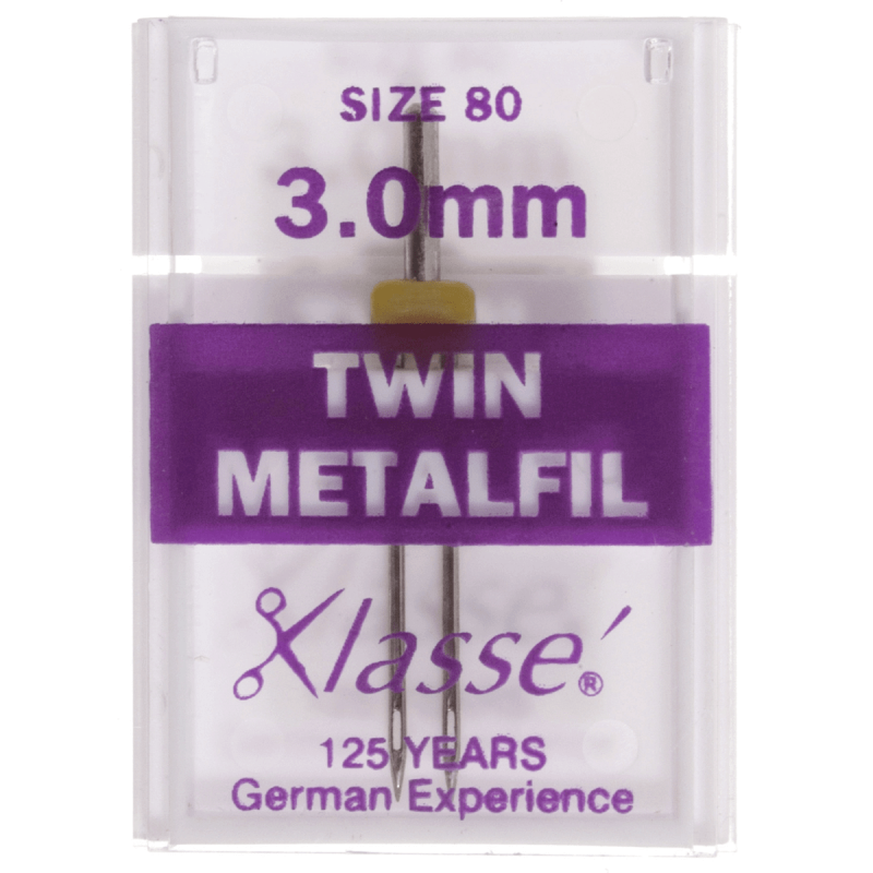 32. A6159.3.0 Sewing Machine Needles: Twin Embroidery: 80/3mm: 1 Piece