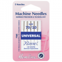 5. H100.70 Sewing Machine Needles: Universal: Fine 70/10: 5 Pieces