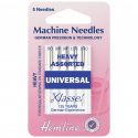 11. H100.992 Sewing Machine Needles: Universal: Mixed Heavy: 5 Pieces