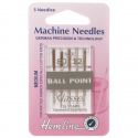 14. H101.80 Sewing Machine Needles: Ball Point: Medium 80/12: 5 Pieces
