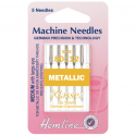 48. H109.80 Sewing Machine Needles: Metalfil 80/12: 5 Pieces