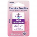 49. H110.16 Sewing Machine Needles: Twin Universal: 80/12, 1.6mm: 1 Piece