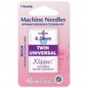 52. H110.40 Sewing Machine Needles: Twin Universal: 80/12, 4mm: 1 Piece