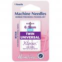 53. H110.60 Sewing Machine Needles: Twin Universal: 100/16, 6mm: 1 Piece