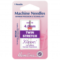 57. H112.40 Sewing Machine Needles: Twin Stretch: 75/11, 4mm: 1 Piece