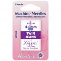 58. H113.40 Sewing Machine Needles: Twin Jeans: 100/16, 4mm: 1 Piece