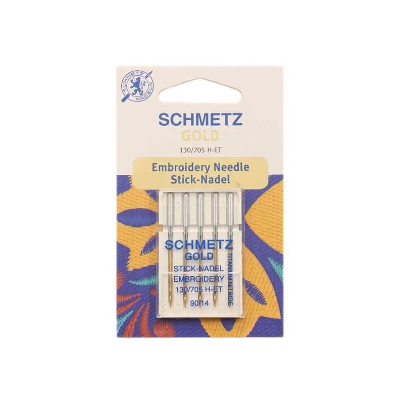 Schmetz Gold Titanium (Embroidery) Size 90