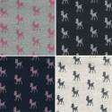 Frolicking Fawns Baby Deer Glitter Cotton Polyester Sweatshirt Jersey Fabric