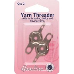 Hemline Double Ended Yarn Threader 2 Pack Bulky Fraying Yarn