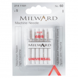 1. 2141101 - Sewing Machine Needles: Universal: 60/8: 5 Pieces