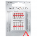 10. 2141120 - Sewing Machine Needles: Universal: 70/10(1), 80/12(2), 90/14(1), 100/16(1): 5 Pieces