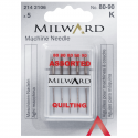 17. 2142106 - Sewing Machine Needles: Quilting: 80/12(3), 90/14(2): 5 Pieces