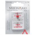 18. 2143101 -Sewing Machine Needles: Twin: Stretch: 75/11 25mm: 1 Piece