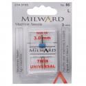 19. 2143103 - Sewing Machine Needles: Twin: Universal: 80/12 3mm: 1 Piece