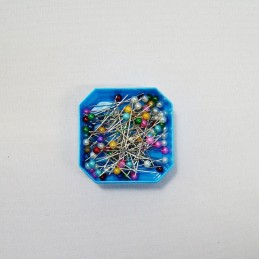 80 x Assorted Colour Pearl Headed 38mm x 0.59mm Craft Sewing Pins Dressmaking