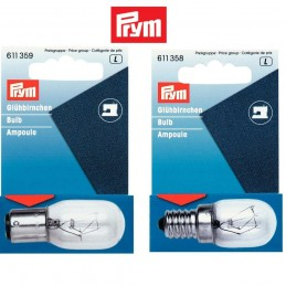 Prym 15w 220V Bayonet or Screw In Sewing Machine Bulb or Appliances