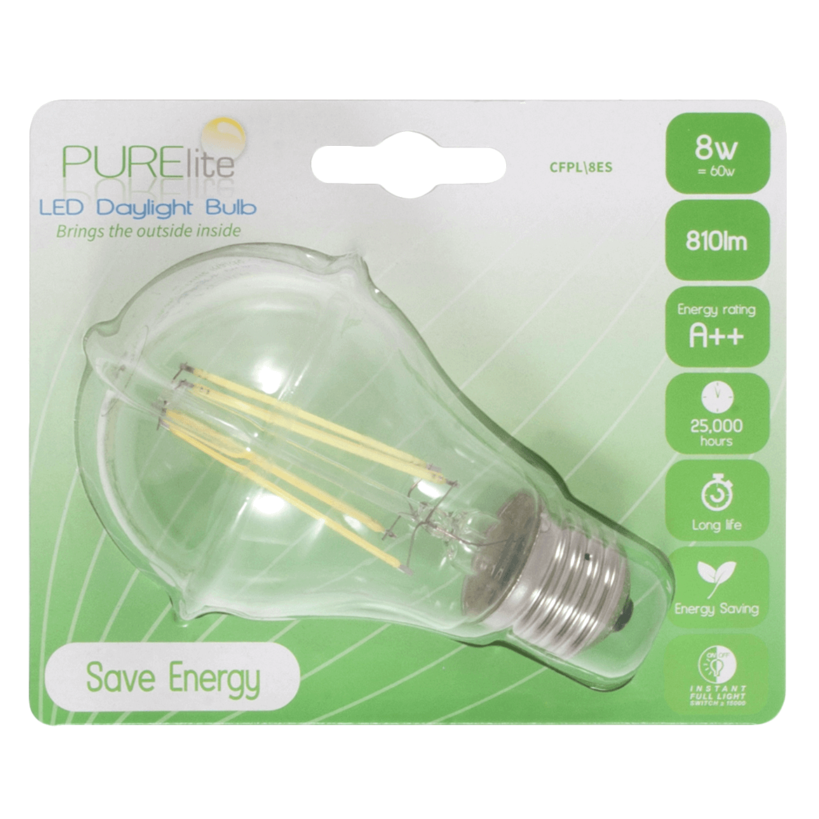 1. CFPL 4BC - Natural Daylight Bulb: 4w: Bayonet Fitting