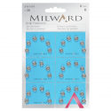 36 x 6mm Silver Milward Sew On Snap Press Stud Fasteners 2195101