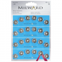 24 x 15mm Silver Milward Sew On Snap Press Stud Fasteners 2195119