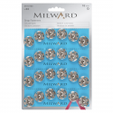 24 x 18mm Silver Milward Sew On Snap Press Stud Fasteners 2195123